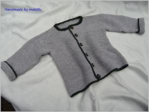 Babyjacke, Babystrickjacke, Babyjanker handgestrickt aus 100 % Wolle (Merino) - Handarbeit kaufen