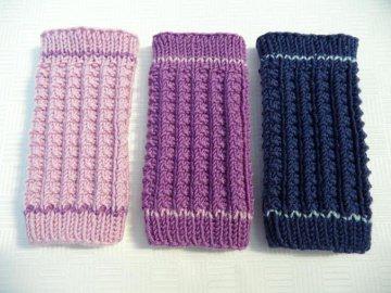 Gestrickte Babystulpen passend bis ca. 4 Mon. aus Wolle (Merino) - Handarbeit kaufen