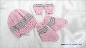 Frühchenset, Babymütze, Socken, Pulswärmer Geschenk für Frühchen - Handarbeit kaufen