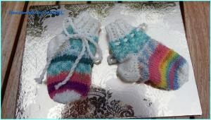 Babysocken für Neugeborene - zum Binden -  Geschenk Geburt