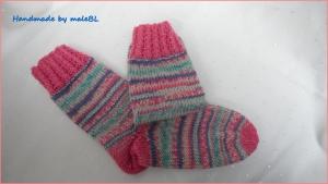 Kindersocken für Mädchen, Stiefelsocken in rosa, Gr. 26/27  - Handarbeit kaufen
