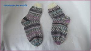 Kindersocken, Stiefelsocken für Mädchen, bunt, Kinder-Socken  - Handarbeit kaufen
