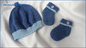 Neugeborenenset, Erstlingsset für Jungen, Babymütze, Babysocken