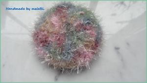 Peelingpad, Kosmetikpad fürs Gesicht, rosa, grün, blau - Handarbeit kaufen