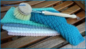 Handgestrickte Spültücher Spüllappen aus Baumwolle - Handarbeit kaufen
