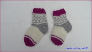 Babysocken für Neugeborene, für 2-4 Mon., - Handarbeit kaufen