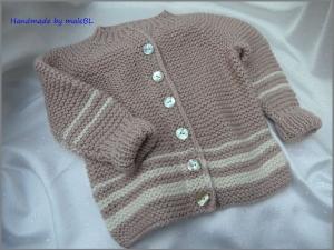 Babyjacke  handgestrickt aus Wolle/Seide/Alpaka/Viskose - Handarbeit kaufen