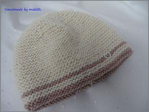 Babymütze, handgestrickt aus Wolle/Seide/Alpaka/Viskose - Handarbeit kaufen
