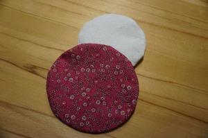 Kirschkernkissen / Körnerkissen Rosa geblümt (2-teilig) ca. 15cm - Handarbeit kaufen