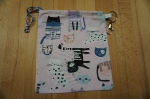 Maskentasche / Maskenbeutel: Katzen für medizinische Masken (auch FFP2) - Handarbeit kaufen