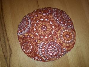 Kirschkernkissen / Körnerkissen Orange Mandalamuster  1-teilig - Handarbeit kaufen