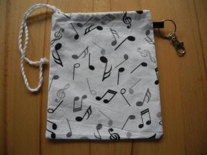 Maskentasche / Maskenbeutel Musiknoten Var. 1 für Stoff & medizinische Masken (auch FFP2) - Handarbeit kaufen