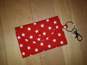 Mini-Bag, Mini-Geldbörse, Portemonnaie in rot mit Sternen - Handarbeit kaufen