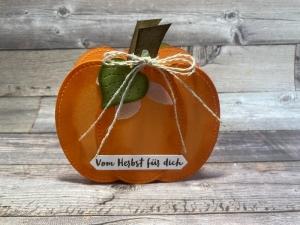 Herbstliche Kürbis Box für den Teller/Tisch