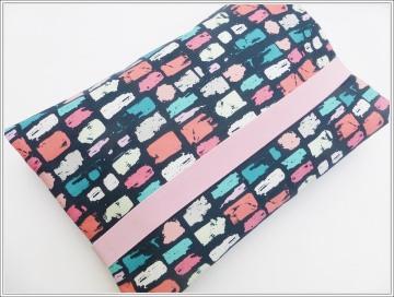 Windeltasche Pinselstriche  blau/rosa für Mädchen