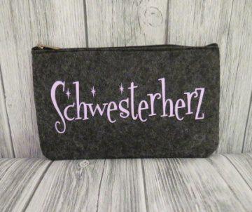 Filztasche Schwesterherz Mäppchen Täschchen Tasche Schwester