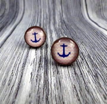 Maritime Ohrstecker Ohrringe Anker