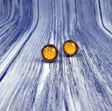 Ohrringe Ohrstecker mit kleinen Sternen in gelb orange