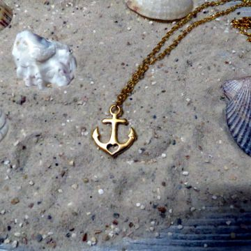 Kette Maritim Anker gold Glaube Liebe Hoffnung