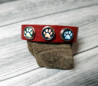 Kinder Armband mit Miniknöpfen aus Leder