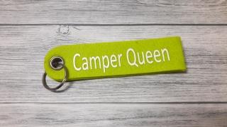 Camper Queen Schlüsselanhänger