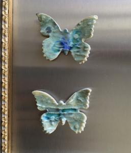 Keramik Schmetterlinge 2 Magnete