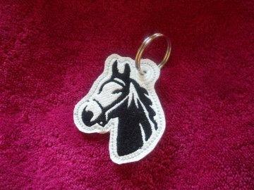 Schlüsselanhänger,  Taschenbaumler, Kunstleder,  Pferd, Pferdekopf