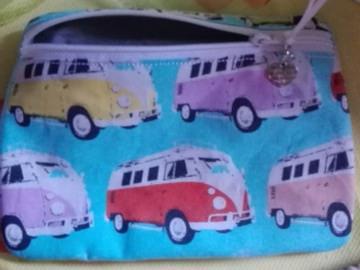Tasche, Täschchen, Mäppchen, Reißverschluß, Baumwolle, VW Bus