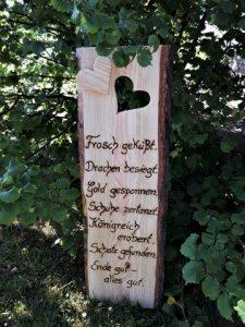 In liebevoller Handarbeit hergestellt: Holzschild ♥ Hochzeit ♥ Märchenhochzeit ♥