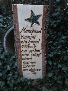 Engel ♥ Zitat auf Holz geschrieben ♥