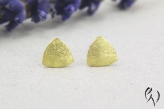 Ohrstecker aus Gold 585/-, Minidreieck mattgekratzt - Handarbeit kaufen
