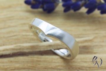 Handgemachter Ring Silber 925/-, Irisblatt - Handarbeit kaufen
