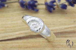 Ring Silber 925/- , Ammonit, Damenring Silber, Handarbeit - Handarbeit kaufen
