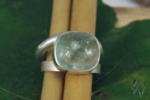Ring Silber 925/- mit Beryll - Handarbeit kaufen