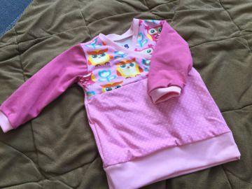 ♥ Baby Shirt Trotzkopf Eulen rosa Gr. 68 ♥