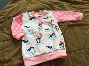 ♥ Baby Shirt Trotzkopf Pinguine rosa Gr. 62 ♥