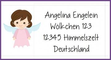 40 Adressaufkleber mit Wunschadresse Engel Kommunion Taufe Weihnachten