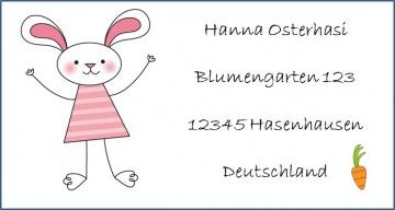 40 Adressaufkleber mit Wunschadresse  Ostern Osterhase Hase Osterpost