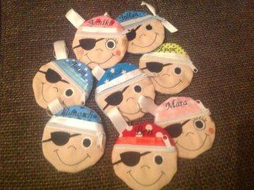 Geldbeutel für Kinder Pirat MIT NAME Mitbringsel Kindergeburtstag