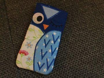 Handytasche EULE - Smartphonetasche aus Stoff