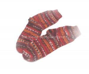 Kindersocken Gr. 36/37 ♥ Socken - Handgestrickte Socken - Die kleine Bastelwerkstatt