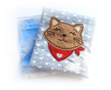 Kühlpadhülle - Wärmepad - Beulentröster - Katze - Katzenkopf