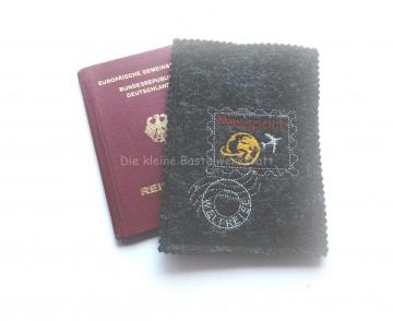 Reisepasshülle - Reisepass - Ausweistasche - Hülle - Filztasche