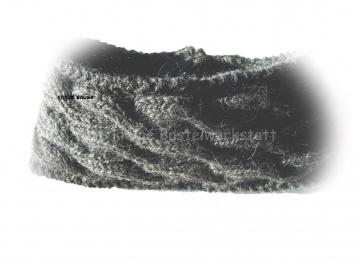 Stirnband ★ dunkelgrau mit Zopfmuster