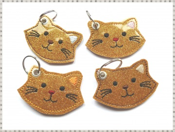 Schlüsselanhänger ♥  Katze ♥ Anhänger ♥ Katzen-Anhänger ♥ Glitzer Anhänger