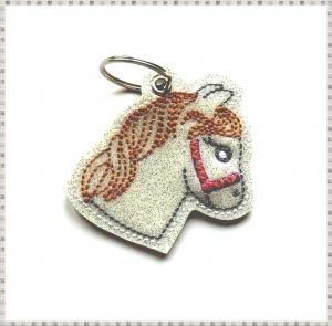 Schlüsselanhänger ♥  Pferd ♥ Anhänger ♥ Pferde-Anhänger ♥ Glitzer Anhänger