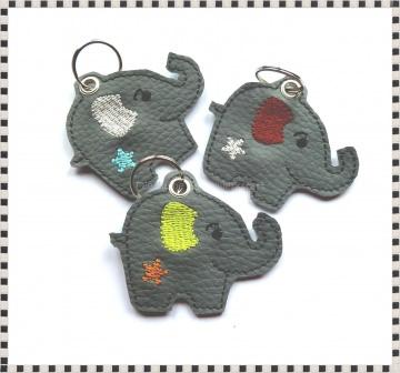 Schlüsselanhänger ♥  Elefant ♥ Anhänger ♥ Elefanten-Anhänger ♥ Kunstleder Anhänger