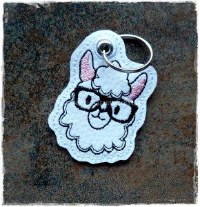 Schlüsselanhänger ♥  Lama ♥ Anhänger ♥ Lama-Anhänger ♥ Kunstleder Anhänger