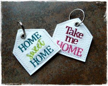 Schlüsselanhänger ♥ Haus ♥ Anhänger ♥ Kunstleder Anhänger