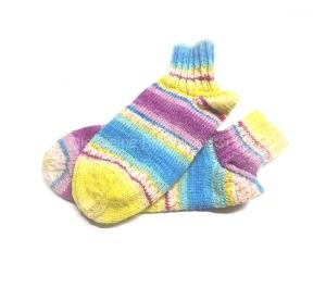 Sneakers ♥ Sneaker Socken Gr. 36 ♥ Socken - Handgestrickte Socken ♥ Kindersocken ♥ kurze Socken ♥ Bumerangferse
